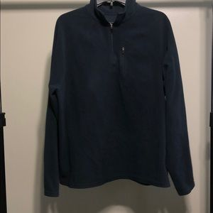 L.L.Bean Navy Blue 1/4 Zip Pullover sweater Large
